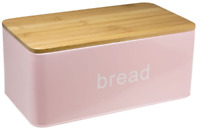 Pink Bread Bin Bread Crock With Bamboo Lid That Can Be Used As Chopping Board