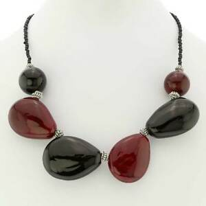 GlassOfVenice Murano Glass Vesuvio Necklace - Red and Black