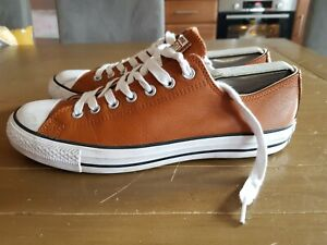 Men's CONVERSE Chuck Taylor All Star Brown Leather Trainers 155190C. UK Size 10