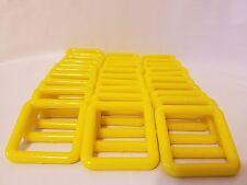 "Lot of 30 Square 3"" Three Inch Yellow Plastic Marbella Macrame Craft Rings"