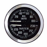 Smiths Dual Oil & Water Temperature Gauge For MGB, Midget & Sprite BHA4737