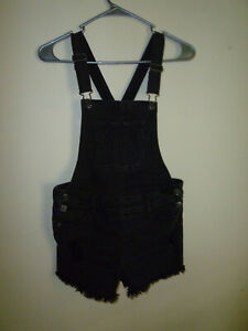 *JUSTICE*Girl's Denim Jeans Overall Shorts(12)Cotton* Poly* Spandex*Other Fiber