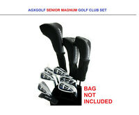 SENIOR MEN'S FULL GOLF SET wDRIVER+3 WOOD+HYBRID+5-9 IRONS+PW+PUTTER: ALL SIZES