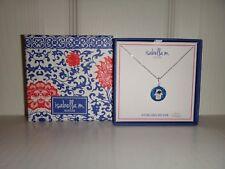 ISABELLA M.Women's Sterling Silver EVIL EYE & HAMSA HAND Necklace Blue Crystals