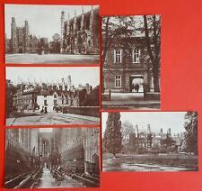 Set 5 Vintage Postcards of ETON College by J. Salmon No.1910-1914 Sepio Series
