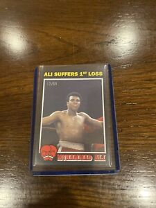 2021 TOPPS MUHAMMAD ALI THE PEOPLE'S CHAMP CARD #34 SUFFERS 1st LOSS Black /56