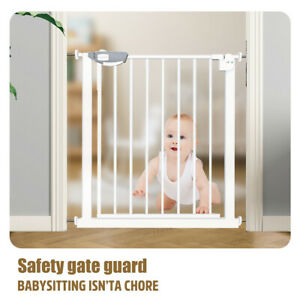 Retractable Pet Dog/Cat /Baby Safety Gate Metal Fence Extendable Wide 90-104CM