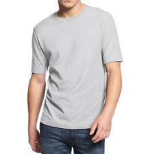 New Mens Club Room Crew Neck Light Gray Solid Short Sleeve T Shirt Tee S