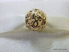 NEW! AUTHENTIC PANDORA CHARM 14K GOLD BUTTERFLY GARDEN CHARM #750895 GIFT BOX