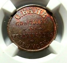 """VERY HIGH GRADE ! RED/BROWN!- NEW YORK'S """" C. BAHR """"  - 630C - 6a - NGC MS - 66"""