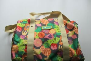 Lily Zen By Lily Bloom Duffle Travel Bag Fruit Pattern