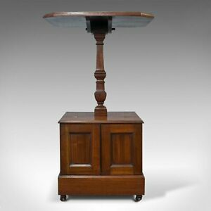 Antique Purdonium, Table and Coal Box, English, Walnut, Early 20th Century c1910