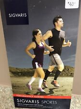 NEW Sigvaris 412VS54 Sports Calf Sleeves, Small, Lime, 20-30 mmHg