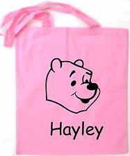 Personnalisé winnie l'ourson sac cabas/shopping/sac d'épaule * choix de couleurs *