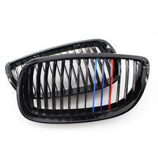 For BMW E92 E93 3 Series Coupe 2 Door Gloss Black M-Color Kidney Grill Grilles