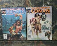 2 Savage Sword of Conan The Barbarian #163 & #164 Magazines MARVEL Comics H