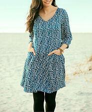 Geblümte Mini-Damenkleider im Tuniken-Stil