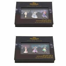 Limited Edition Disney Princess Pin Set Designer Doll Collection Set One & Two