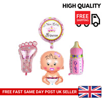 4Pcs Girl Foil Helium Balloon For Newborn Baby Shower Birthday Party Christening