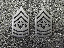 (A29-006) US Rangabzeichen Metall Command Sergeant Major Schwarz