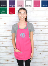 Monogrammed Kids Apron in Genuine Embroidery Initials