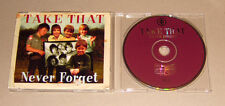 MAXI SINGLE CD take that-Never Forget 3. tracks 1995 BACK for Good Live 149