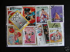 LOT TIMBRES SPORTS/HALTEROPHILIE : 25 TIMBRES DIFFERENTS/ SPORTS STAMPS