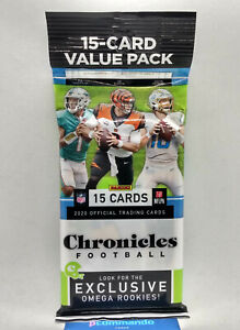 2020 Panini Chronicles NFL Football Cards Packet Sealed Cello / Value / Fat Pack
