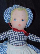 Antique Topsy Turvy Doll Painted Faces