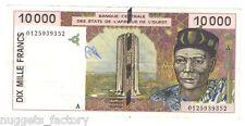10000 Francs CFA Cote d Ivoire 2001 SUP ( 717  )