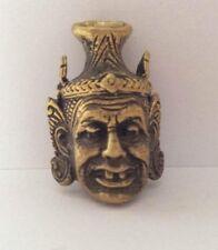 Statuette figurine laiton amulette bouddhisme BOUDDHA MASQUE Thaïlande b173