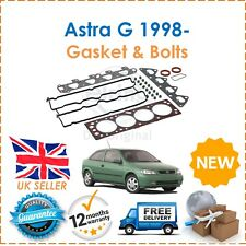 For Vauxhall Astra G 1.4 16V DOHC X14XE 1998- Head Gasket Set & Head Bolts New
