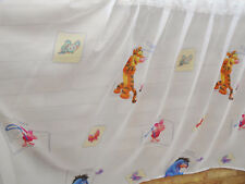 DISNEY WINNIE THE POOH CHILDRENS KIDS WHITE MULTICOLOURED NET CURTAINS BEDROOM