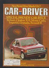 Car and Driver Magazine October 1980 Ford Escort Reliant Monte Carlo Granada