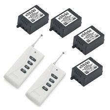 Rf Dc 24V 4X1Ch Relay Wireless Smart Remote Control Switch Kit & 2 Transmitters
