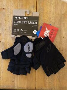 New GIRO StraDedure Supergel Adult Small Cycling Short Finger Gloves , Black