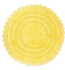 Dii Yellow Round Crochet Bath Mat 27.5� Round, Yellow