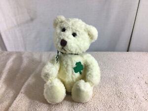Cute Collectible RUSS BERRIE & CO Plush MURPHY Sitting Teddy Bear W/Clover