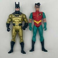 "VINTAGE Lot 1990 Gold Batman Kenner 1993 KENNER DC COMICS ROBIN 4"" ACTION FIGURE"