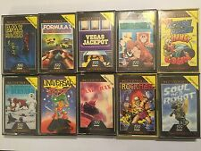 10x SINCLAIR ZX SPECTRUM 48K TAPE MASTERTRONIC GAMES BMX F1 SOUL OF ROBOT TANK +