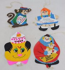 Vintage 1971 Dan-Dee Imports Inflatable Birthday Party Ornaments Hippie Decoratn