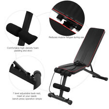 New listing Fitness Exercise Weight Bench 330lbs Home Gym Incline Decline Dumbbell Bench