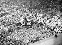 1945- Aerial View-Bombing -City of London-With St. Paul's Cathedral-World War 2