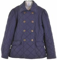 RALPH LAUREN Girls Quilted Jacket 13-14 Years Large Navy Blue Polyester  JN05