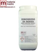 IDROSSIDO SODIO TECNICO BARATTOLO 2 KG Soda Caustica Sodium Hydroxide Technical