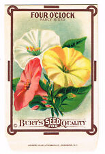 VINTAGE SEED PACKET FLOWERS 1910 GENERAL STORE GARDEN FOUR O CLOCK SCARCE MIXED