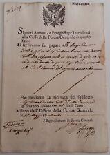 1770 MILANO documento UFFICIO FERMA GENERALE su MERCANZIA+St.ARALDICO-AQUIL-J600