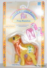 my little pony G1** HTF SNOWDROP FLOWER PONIES/VARIANT SPANISH CARD **SPAIN MOC
