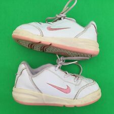 NIKE kid girl's fashion white walking shoe size--7.5CW