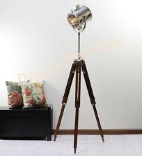TEATRO CLASSICO LUCE SPOT con un robusto TREPPIEDE IN LEGNO-Lampada Vintage / Retrò